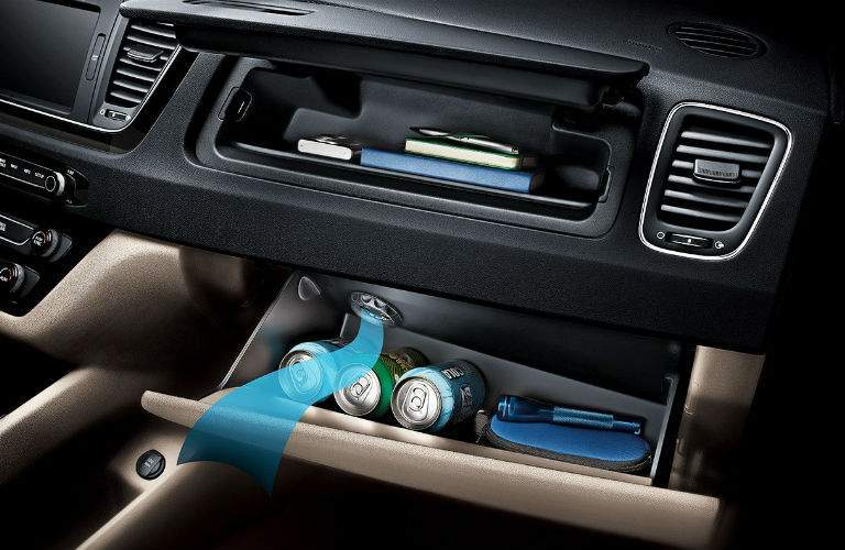 2018 Kia Sedona Cooling Glove Box