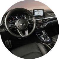 2019 Kia Forte interior and steering wheel