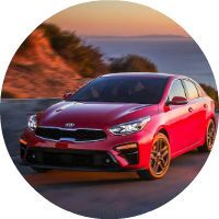 2019 Kia Forte parked by ocean clifff
