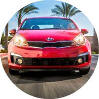2017 Kia Rio Front End Compact Car Size