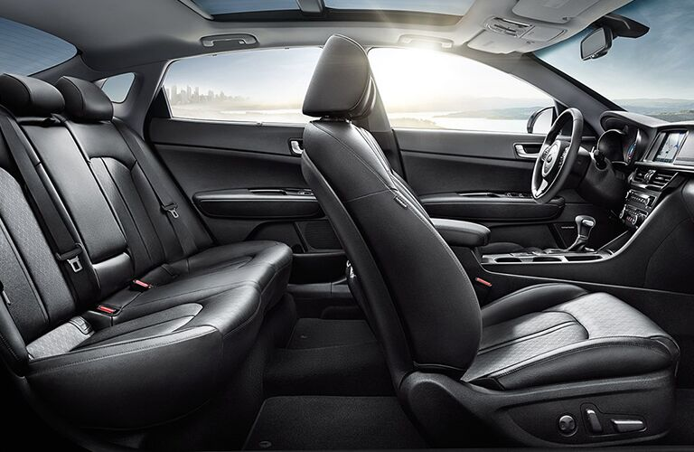 sideview of seats in kia optima hybrid