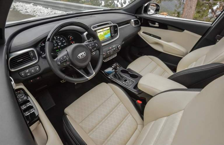 2018 Sorento interior leather seats