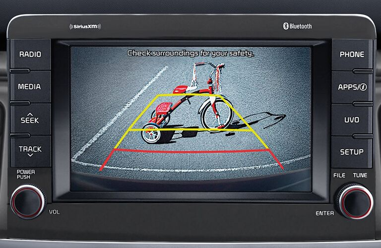 tricycle on rearview monitor