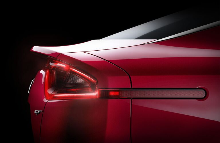 red kia stinger right taillight