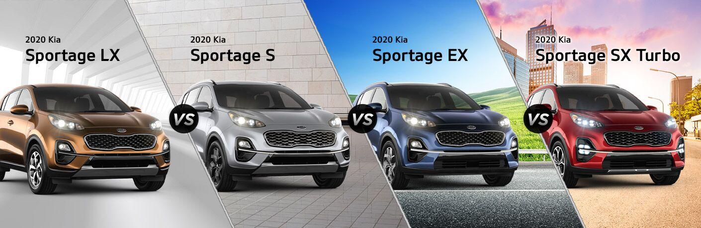 2020 Kia Sportage LX vs Sportage S vs Sportage EX vs Sportage SX Turbo