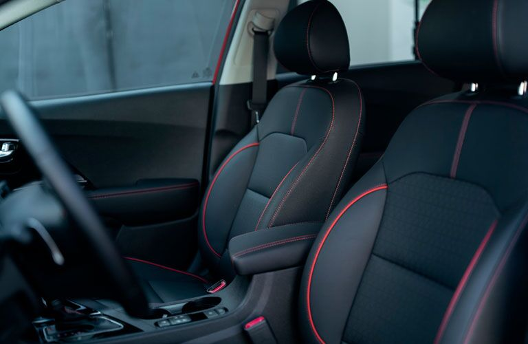 An image of the front seats inside a 2020 Kia Niro.
