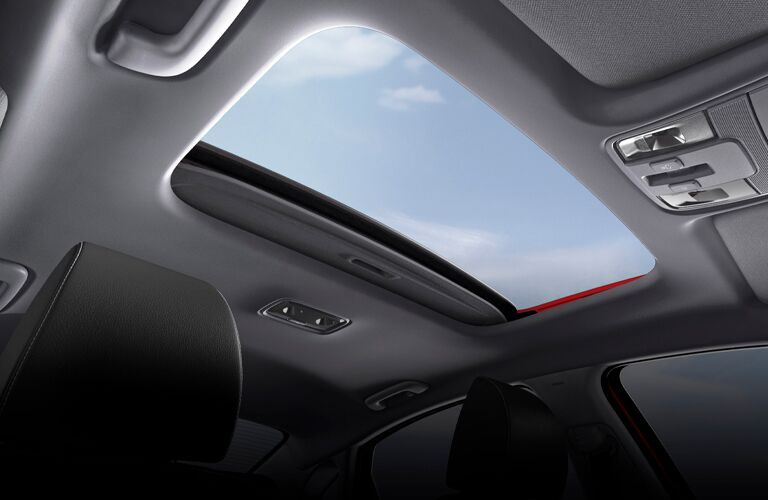 The interior image of the sunroof available on the 2021 Kia Forte.