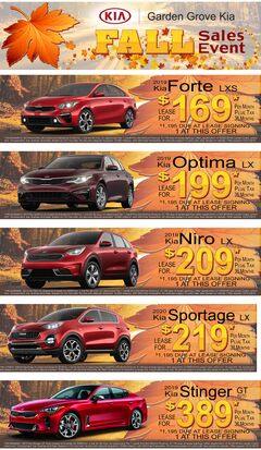 Garden Grove Kia Fall Sales Event