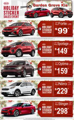 Kia Holiday Sticker Sales Event