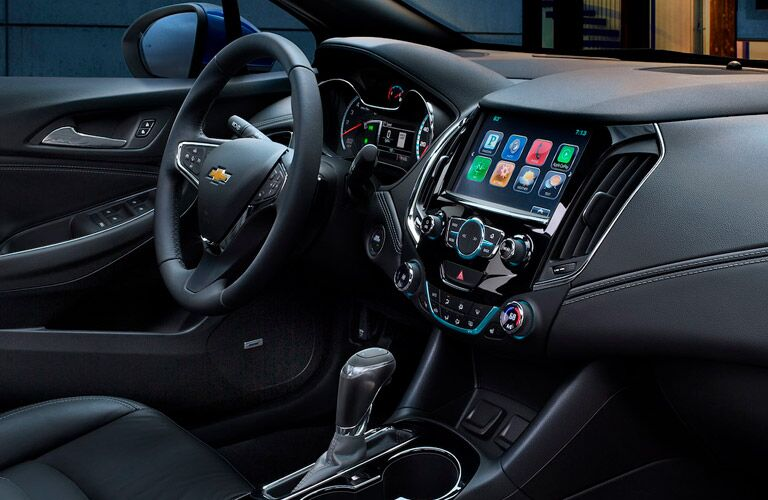 2018 Chevrolet Cruze front seat and infotainment system