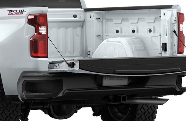 White 2019 Chevrolet Silverado 1500 with tailgate down