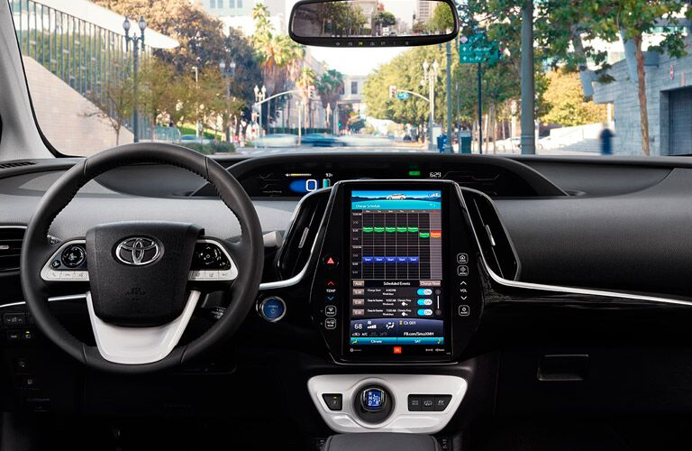 2017 Toyota Prius Prime display