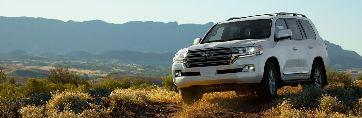 2019 Toyota Land Cruiser on a rocky hill