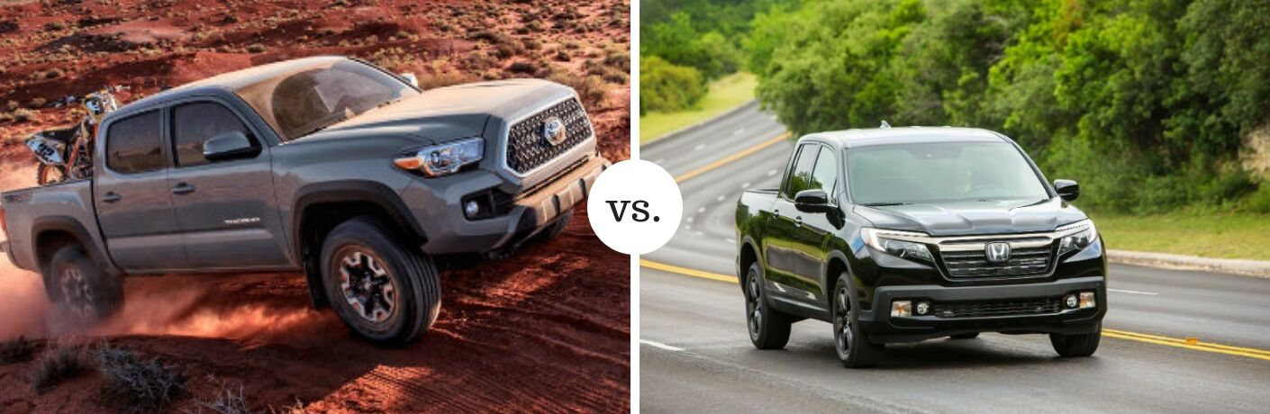 Toyota Tacoma and Honda Ridgeline in comparison image