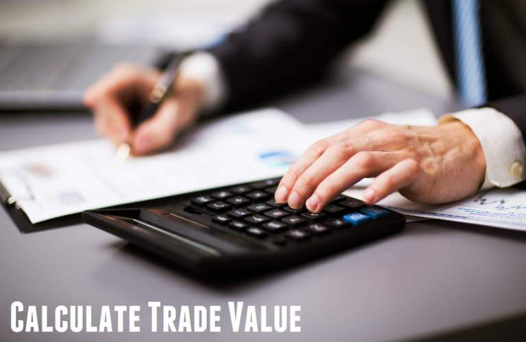 Calculate trade value