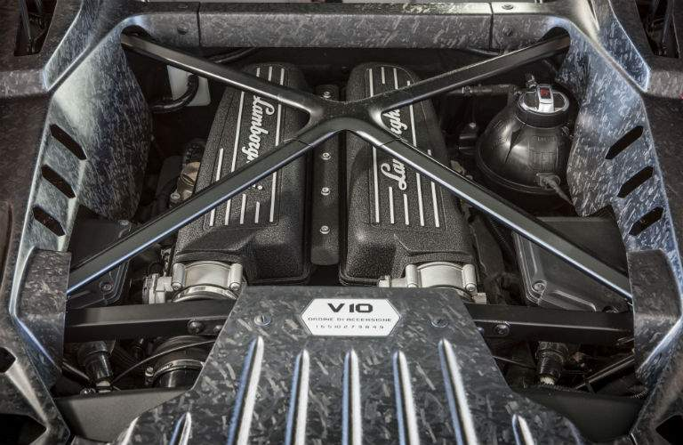 2018 Lamborghini Huracan Coupe Engine Bay