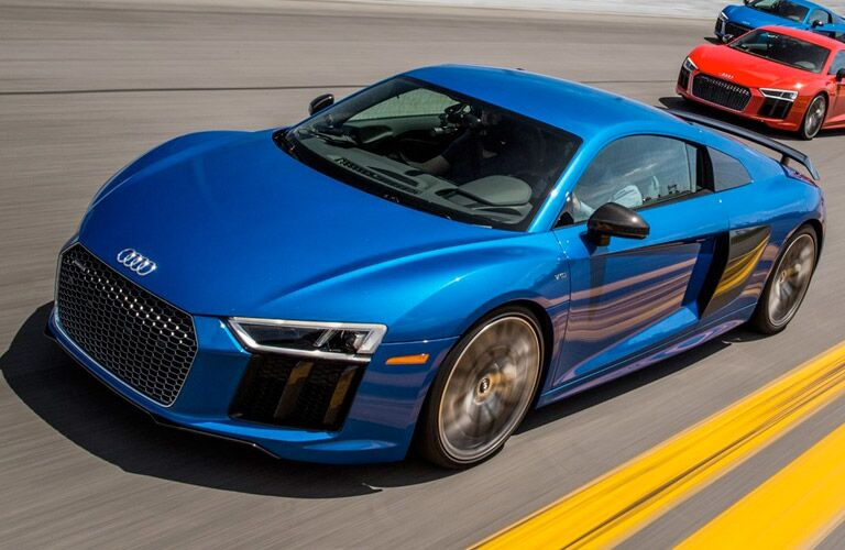 2017 Audi R8 Exterior Driver Side Front Profile on Track