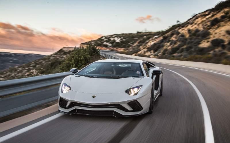 Silver 2017 Lamborghini Aventador S Front