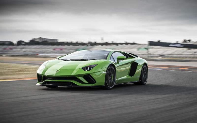 Green 2017 Lamborghini Aventador S Front