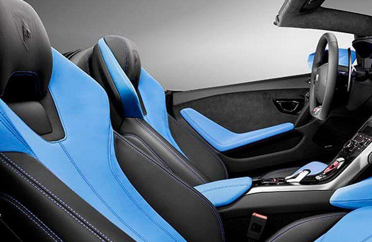 2017 Lamborghini Huracan 580-2 Spyder Front Cabin Blue Interior