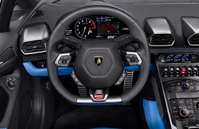 2017 Lamborghini Huracan 580-2 Spyder Steering Wheel Blue Interior