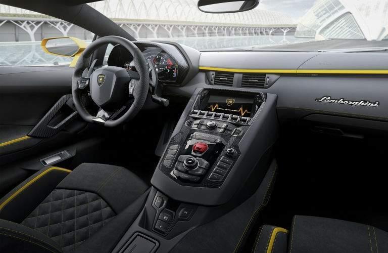 2018 Lamborghini Aventador S Coupe Interior Cabin Front Seats/Dashboard