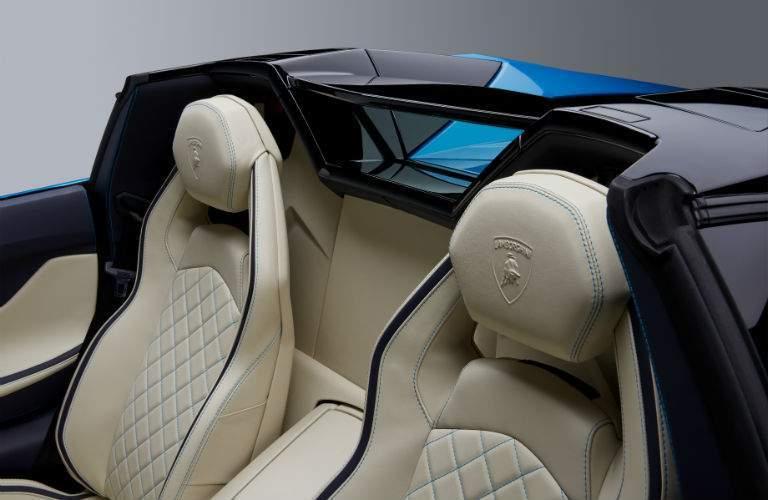 2018 Lamborghini Aventador S Roadster Interior Cabin Rear Seats