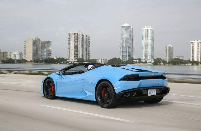 2018 Lamborghini Huracan Spyder Exterior Rear Driver Side Profile