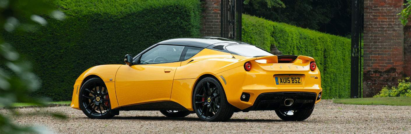 2018 Lotus Evora 400 Exterior Rear Driver Side Profile