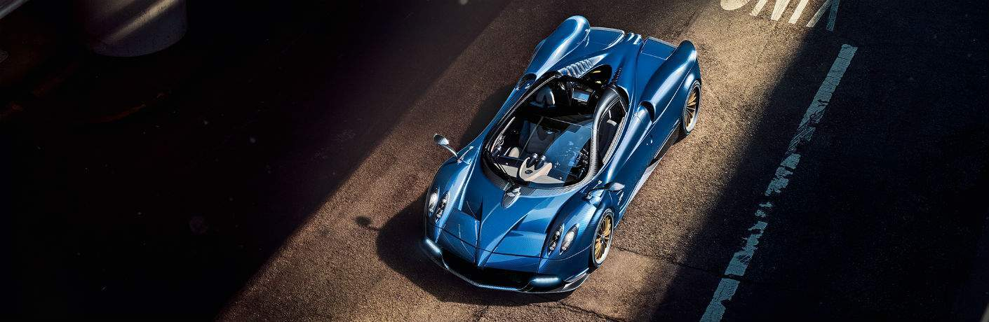 Pagani Huayra Roadster Exterior Roof Top Cabin Aerial View