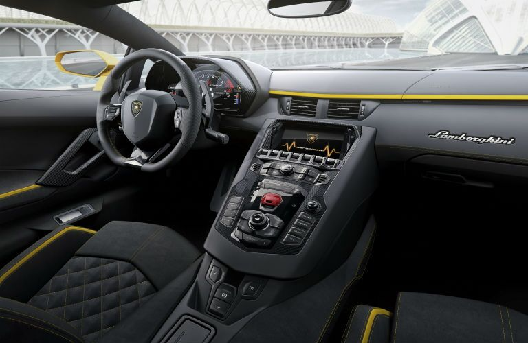 2018 Lamborghini Aventador Interior Cabin Dashboard and Front Seat