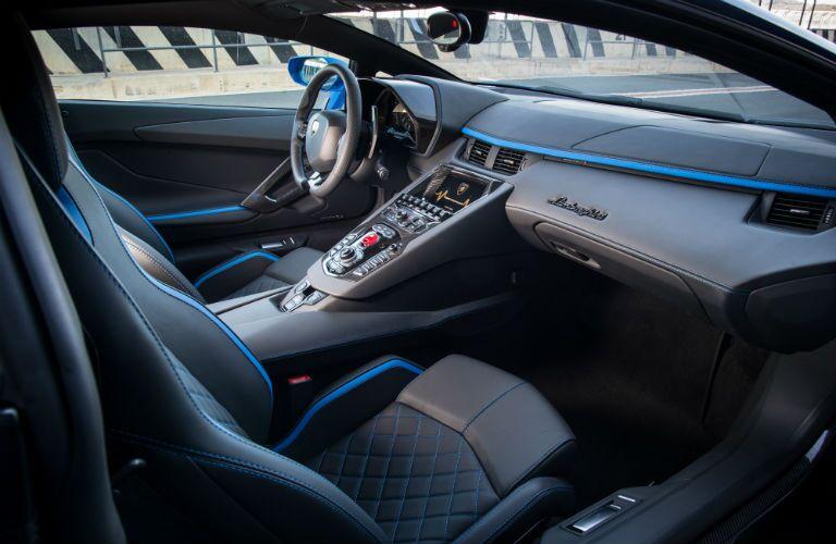 2018 Lamborghini Aventador S Interior Cabin Front Seat & Dashboard