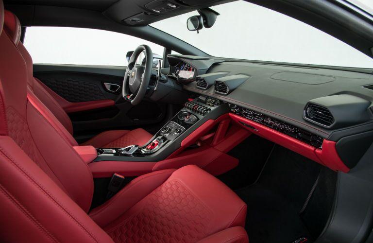 2018 Lamborghini Huracan Interior Cabin Front Seat & Dashboard