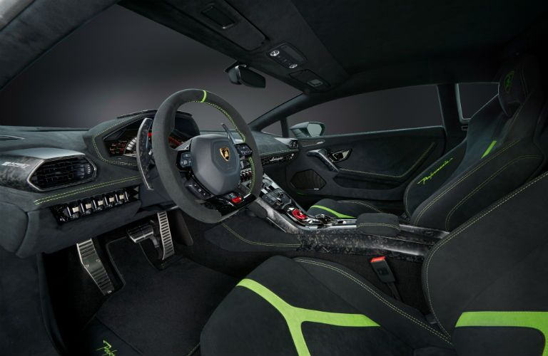 2018 Lamborghini Huracan Performante Interior Cabin Front Seats & Dashboard