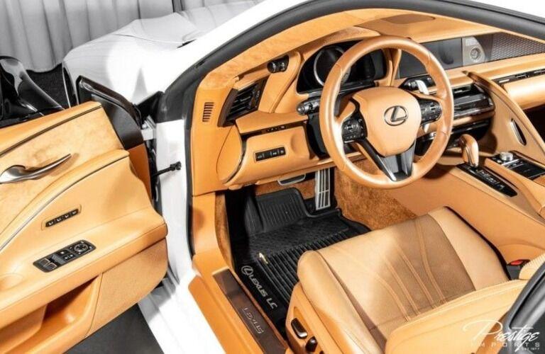 2018 Lexus LC brown interior back seats