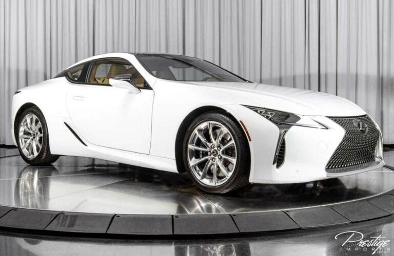 2018 Lexus LC white side view