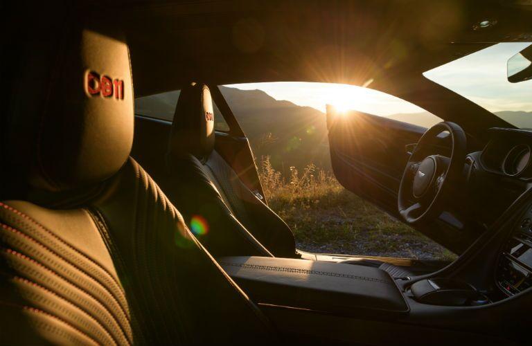 2019 Aston Martin DB11 Interior Cabin Front Seating Door Open