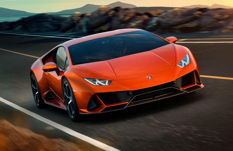 2019 Lamborghini Huracan EVO Exterior Passenger Side Front Angle