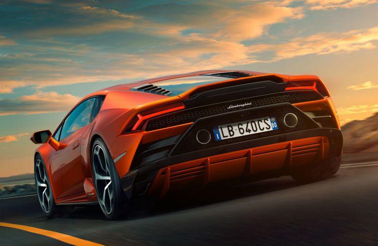 2019 Lamborghini Huracan EVO Exterior Driver Side Rear Angle
