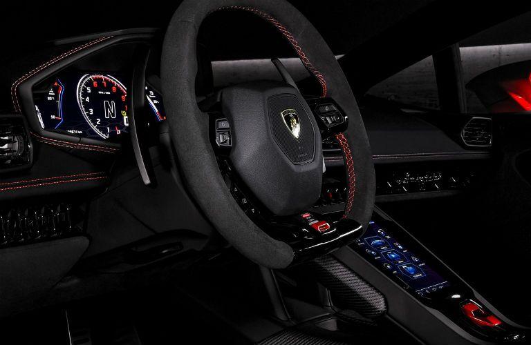 2019 Lamborghini Huracan EVO Interior Cabin Steering Wheel