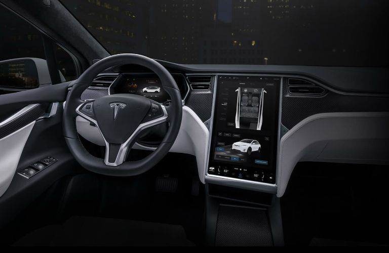 2019 Tesla Model X Interior Cabin Dashboard