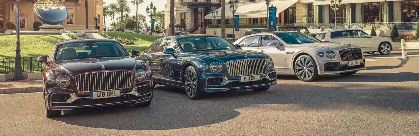 Multiple Bentley Flying Spur Models Lined Up