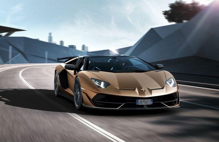 2020 Lamborghini Aventador SVJ Roadster Exterior Passenger Side Front Angle