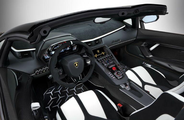 2020 Lamborghini Aventador SVJ Roadster Interior Cabin Front Seating & Dashboard