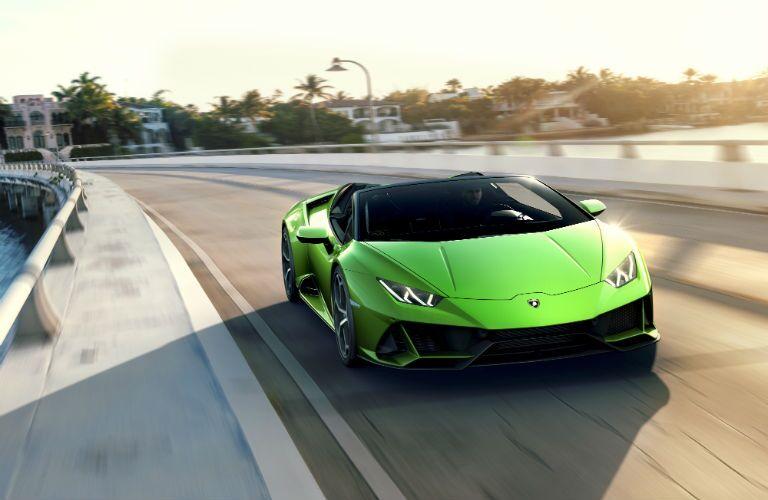2020 Lamborghini Huracan EVO Spyder Exterior Passenger Side Front Angle