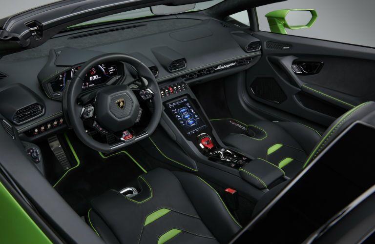 2020 Lamborghini Huracan EVO Spyder Interior Cabin Dashboard & Front Seating