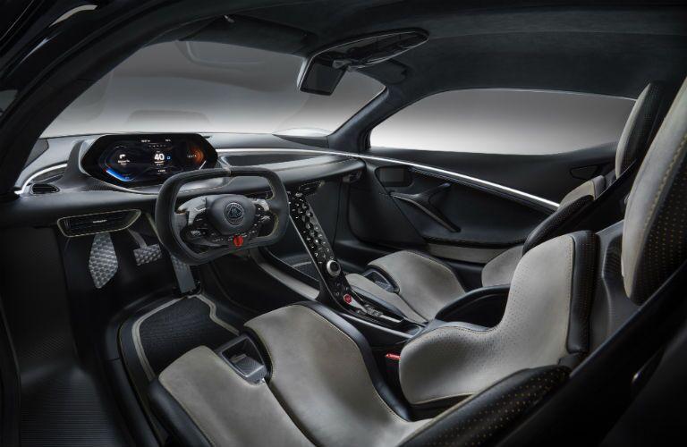 2020 Lotus Evija Interior Cabin Dashboard & Front Seating
