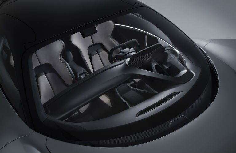 2020 Lotus Evija Interior Cabin Dashboard & Front Seating from Outside