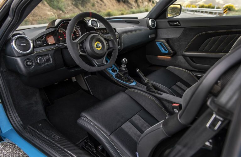 2020 Lotus Evora GT Interior Cabin Front Seating & Dashboard