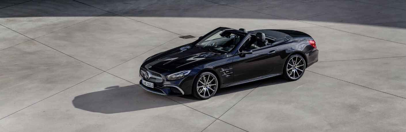 2020 Mercedes-Benz SL-Class Exterior Driver Side Front Profile with Top Down